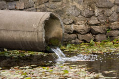 Sewage pipe Stock Photography