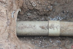 Sewage pipe Royalty Free Stock Photos
