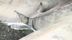 Sewage pipe stock video