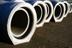 Sewage pipes Stock Image