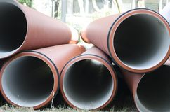Sewage pipes royalty free stock photography
