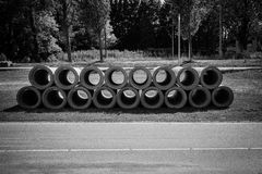 Sewage pipes Royalty Free Stock Photos