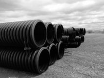 Sewage Pipes Stock Photos