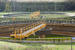 Sewage plant Royalty Free Stock Photo