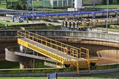 Sewage plant Royalty Free Stock Images