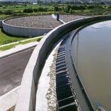 Sewage plant. Partial view of sewage treatment plant stock photos