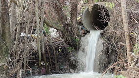 Sewage Polluting Pipe stock footage