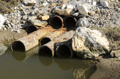 Sewage pollution Royalty Free Stock Image