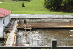 Sewage processing plant Royalty Free Stock Photos