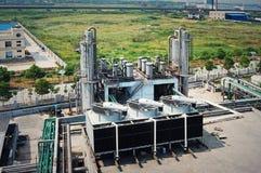 Sewage treatment plant. A modern sewage treatment plant Stock Image