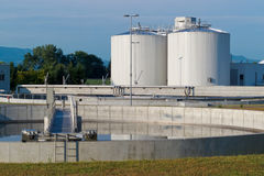 Sewage treatment plant. Is used to prevent environmental pollution Stock Images