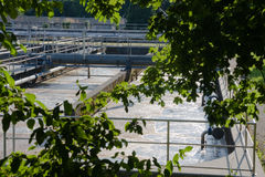 Sewage treatment plant Royalty Free Stock Photos