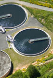 Sewage treatment plant royalty free stock photography