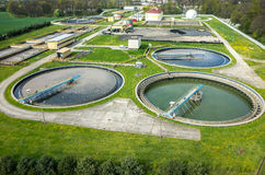 Sewage treatment plant Stock Photos