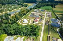 Sewage treatment plant Royalty Free Stock Image