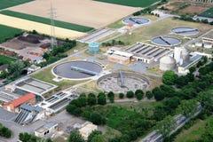 Sewage treatment plant Royalty Free Stock Photo