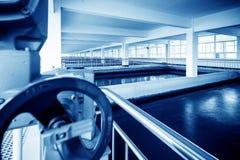 Sewage treatment plant Royalty Free Stock Photography