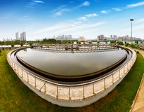 Sewage treatment plant Royalty Free Stock Image