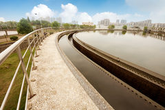 Sewage treatment plant Stock Photo