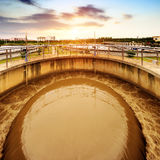 Sewage treatment plant Royalty Free Stock Photo