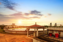 Sewage treatment plant Stock Image