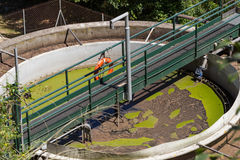 Sewage treatment plant. The sewage treatment plant in Spain royalty free stock images