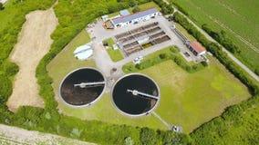 Sewage treatment plant - waste water purification stock footage