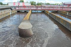 Sewage treatment plant Stock Images