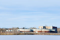 Sewage Treatment Plant in Winter Stock Image