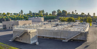 Sewage treatment plants. For the city Royalty Free Stock Photography