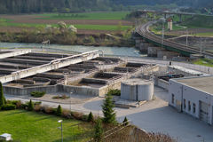 Sewage treatment Stock Image