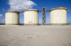 Sewage treatment silos Royalty Free Stock Photos