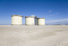 Sewage treatment silos Stock Photography