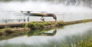 Sewage Treatment System Pipes Stock Image