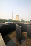 Sewage treatment works building facilities Stock Images