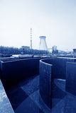 Sewage treatment works building facilities Stock Photo