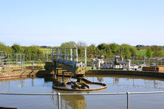 Sewage Treatment Works Two. An old sewage treatment plant in England royalty free stock photo