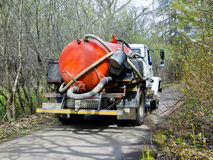 Sewage truck Royalty Free Stock Image