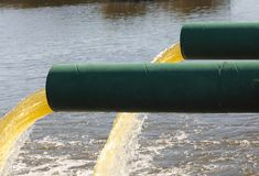 Sewage waste pipe Stock Photography