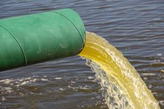 Sewage waste pipe Royalty Free Stock Photo