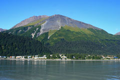Seward Alaska Góry Maraton Obraz Royalty Free