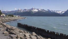 Seward Alaska kustlinje Arkivfoto