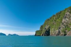 Seward bay. Mountains and islands in Seward bay, Alaska, USA Stock Photo