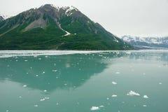 seward för alaska närmande sig glaciärhubbard Royaltyfri Fotografi