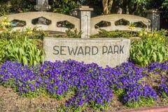 Seward parkerar tecknet fotografering för bildbyråer