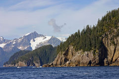 Seward Sea. Sea and rock formations outside Seward, Alaska stock photo