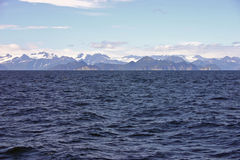 Seward Sea. Sea and mountain formations outside Seward, Alaska stock photos