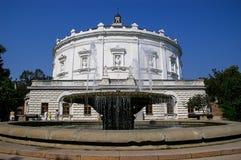 Sewastopol: die Außenfassade des Panorama-Museums Lizenzfreie Stockfotos