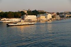 Sewastopol-Sonnenuntergangansicht Lizenzfreies Stockbild