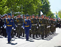 SEWASTOPOL, UKRAINE -- AM 9. MAI: Victory Parade lizenzfreie stockfotografie